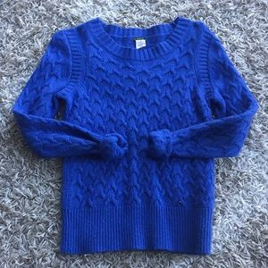 Periwinkle cable knit sweater from JCREW sz XS